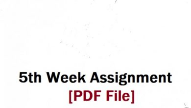 5th week Assignment All Subject